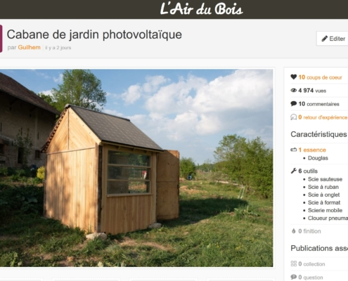 Cabane sur lairdubois.fr