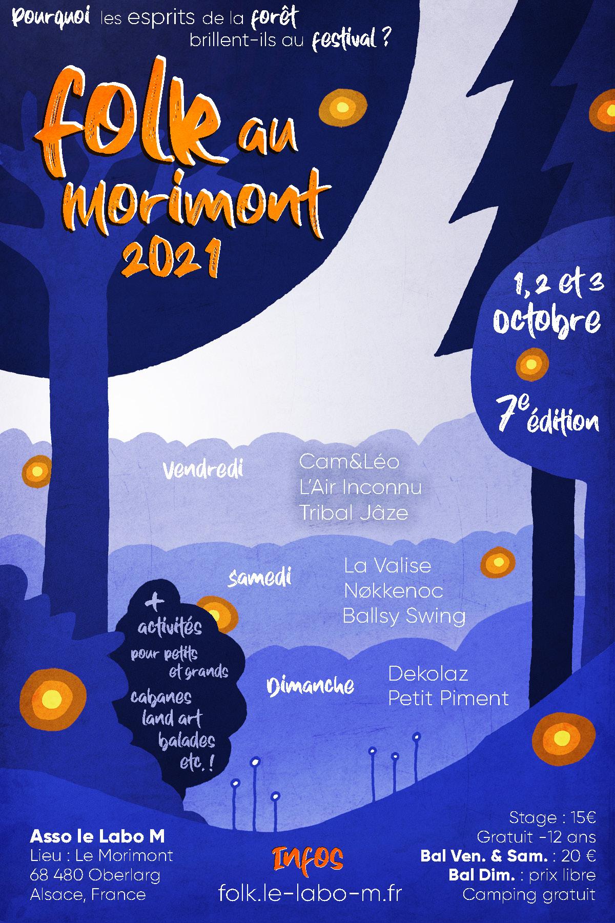 Affiche Folk au Morimont 2021